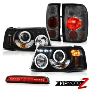 Led Projector Headlights Smoke Rear Brake Lamps 3rd Red 2001 2011 Ford Ranger
