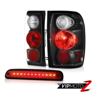 Pair Diamond Black Taillights High Stop Led Cargo Red 2001 2011 Ford Ranger Edge