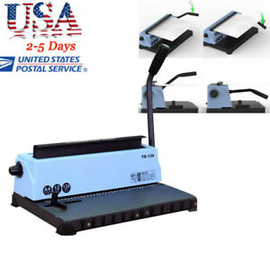 usa 34holes Punching Binding Machine All Steel Metal Spiral Coil Binder Puncher