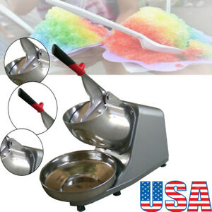 300w Electric Ice Shaver Machine Snow Cone Maker Crusher Shaving Cold Drink Tool