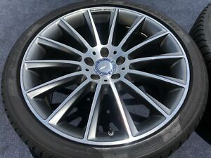 4 Genuine Mercedes Amg Cls63 Forged Wheels Tires Rims Oem Factory