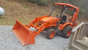 Kubota L39 Tractor Loader Backhoe 190 Hours Immaculate All Manuals Deluxe Lights