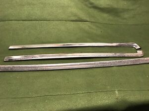 1978 1987 Chevy Malibu Classic 3 Piece Windshield Trim Set 1 Cutlass G Body 442