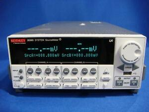 Keithley 2636b Dual channel System Sourcemeter Instrument 0 1fa 10a Pulse