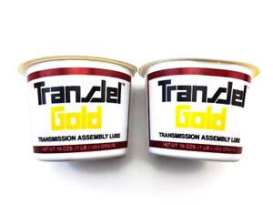 Two Gold Tubs Of Lubegard Transmission Assembly Lube