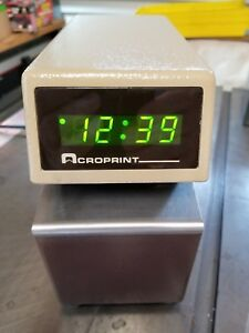 Acroprint Etc Digital Display Time Card Recorder With Keys