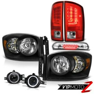 07 08 Dodge Ram 1500 Slt Tail Brake Lamps Headlamps Fog Roof Cab Lamp Projector