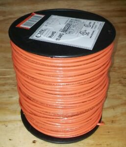 New 10 Stranded Thhn Orange Electrical Copper Wire 500 Ft 10 Gauge 10awg Spool
