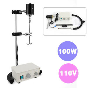 Free Shippng Lab Electric Overhead Stirrer Mixer Variable Speed 100w 3000 Rpm