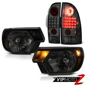 2012 2015 Toyota Tacoma 4wd Headlights Graphite Smoke Rear Brake Lamps Led Smd