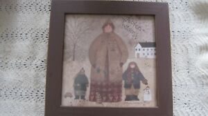 Primitive Winter Christmas Picture By Teresa Kogut Woolen Mittens