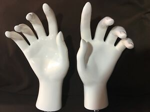 Quality Vintage Mannequin Hands High Gloss White