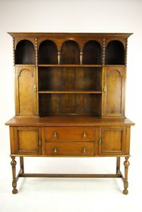Antique Oak Welsh Dresser Oak Hutch Buffet Scotland 1910 Antiques B1167