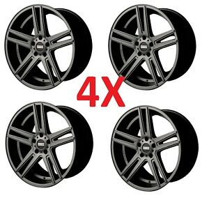 20 Custom Staggered Wheels Rims Gunmetal Anthracite Gray Grey Ford 5x114 3 5x4 5