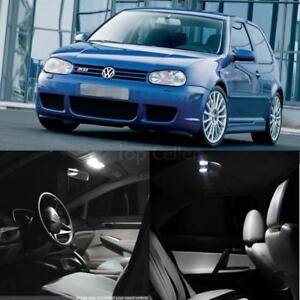 For 2003 2006 Vw Golf Mk4 14 Pcs White Led Interior Lights Package Error Free