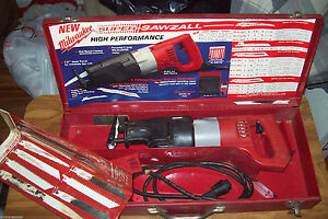 Milwaukee Super Sawzall 6527 With Metal Case And Blades 1994 Manual