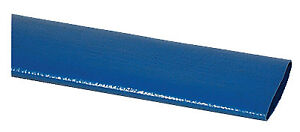 Lay Flat Discharge Hose Blue Pvc 1 5 in X 100 ft