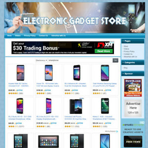 Electronic Gadgets Store Online Business Website For Sale New Tech Product