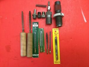 Herter's 30 Carbine Sizer Reloading Die & Lot Of Parts Tools Case Brushes