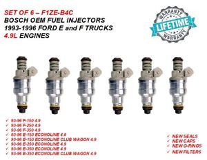 Bosch Oem Fuel Injectors 6x For 1993 1996 Ford 4 9l F And E 150 250 350