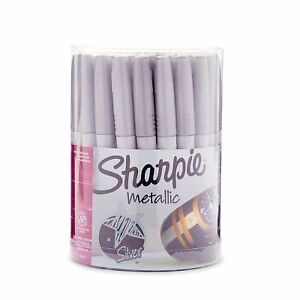 Sharpie 9597 Metallic Permanent Markers Fine Point Silver 36 Pack