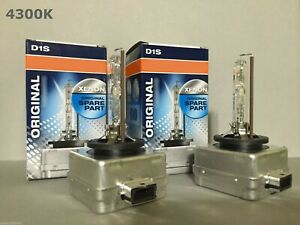 2pcs New Oem Osram Xenarc D1s 66144 66140 4300k Hid Xenon Light Bulbs Set