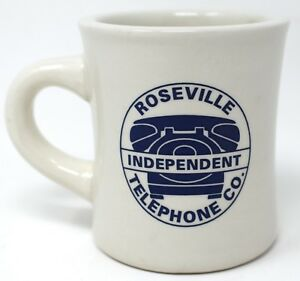 Roseville  CA Independent Telephone Phone Co Heavy Vintage Coffee Mug Tea Cup