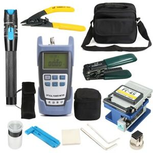 Liteark Tk16 12 in 1 Fiber Optic Ftth Tool Kit Power Meter Fc 6s Fiber Cleaver