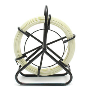 4 5mmx100m Fiberglass Cable Puller Fish Tape Cable Running Rod Reel Wire Puller