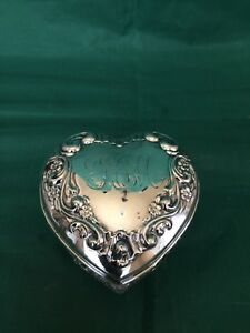 Sterling Top Heart Shape Vanity Jar 1850 1899