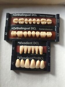 Ivoclar Vivadent Ortholingual Dcl 4 Cards Of Teeth A2 For Dental Lab Materials
