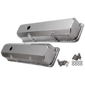 For Bb Ford Fabricated Aluminum Valve Covers Short Bolt 352 390 428 1958 1970