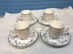 Tanger Porcel Expresso Cups Lot Of 4 Made In Portugal