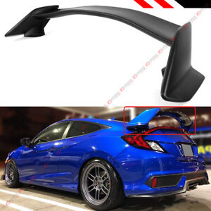 For 16 2020 10th Gen Honda Civic 2 Dr Coupe Ctr Type R Style Trunk Spoiler Wing