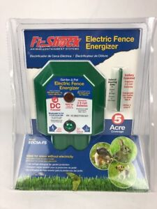 Fi shock Edc5a fs Electric Fence Garden Pet Energizer 5 Acre Coverage
