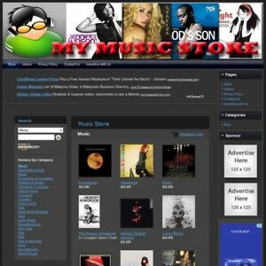 Music Store Make Money With Your Own E commerce Website Free Domain Hosting