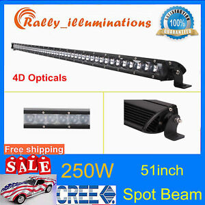 42 210w Curved Led Light Bar Truck Off Road Slim Light Combo Single Row 4wd 3d