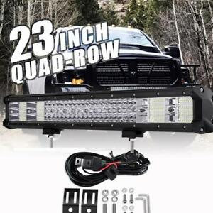 Quad row 23inch 2256w Cree Led Work Light Bar Spot Flood Offroad Truck 22 24inch