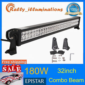 Slim 41 200w Single Row Led Light Bar Cree 4d Lens Spot Lamp Offroad 4wd Pk 42