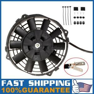 1x 7 7 Inch Universal Electric Radiator Racing Cooling Fan Mounting Kit New
