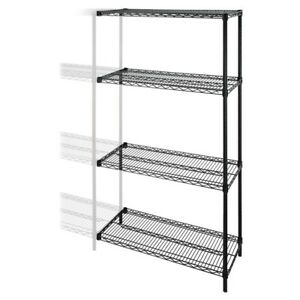 Lorell Industrial Wire Shelving Add on unit 48 X 24 X 72 4 X