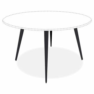 Lorell Round Conference Table Steel Base 28 50 Height X 35 Width X 35