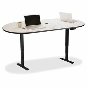Safco Electric Height adjustable Teaming Table Top Powder Coated White
