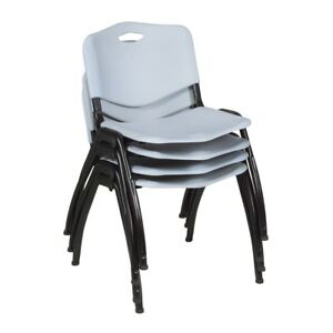 m Stack Chair 4 Pack Grey