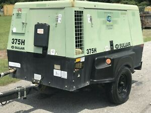 Used 2011 Sullair 375h Cfm 150psi Portable Air Compressor