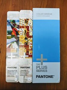 2 Pantone Books Color Bridge Coated Uncoated The Plus Series