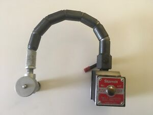Starrett No 657 On Off Switch Magnetic Base Test Indicator Holder Flexible