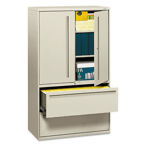 Hon 700 Series Lateral File W storage Cabinet 42w X 19 1 4d Light Gray 795lsq