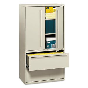 Hon 700 Series Lateral File W storage Cabinet 36w X 19 1 4d Light Gray 785lsq