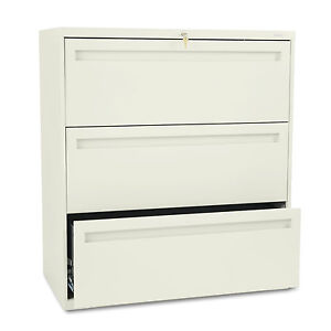 Hon 700 Series Three drawer Lateral File 36w X 19 1 4d Putty 783ll